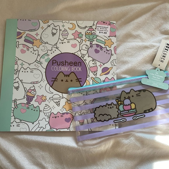 Pusheen Other Pusheen Coloring Book And Pencil Case Poshmark